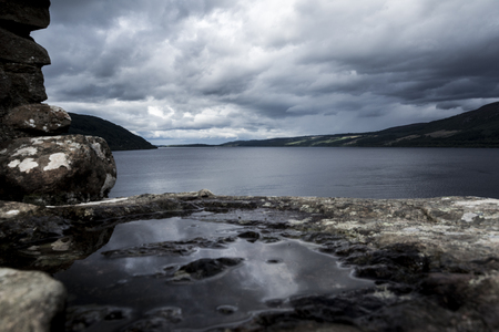 Loch Ness from Urquhart castle, scottish highlands