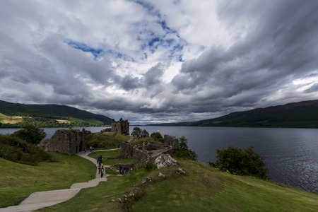 Urquhart castle, Loch Ness, Scottish Highlands Stock Photo