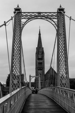 Inverness bridge over river Ness, scottish highlands Editorial