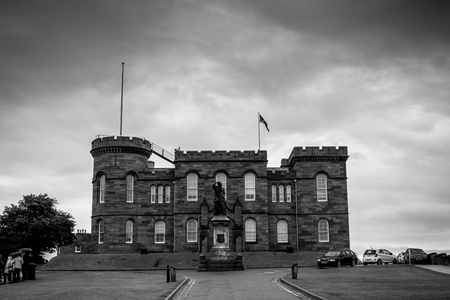 Inverness Castle in black and white Stock Photo - 103971853
