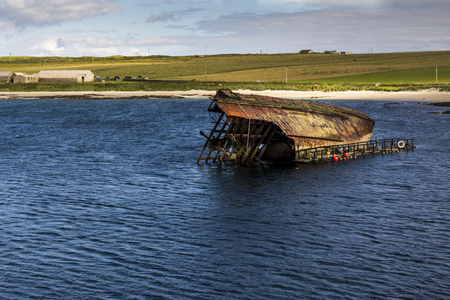 Shipwreck of World War 2 in the Orkney islands