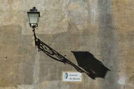 Tuscania street signs, village light