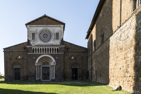 Tuscania oldest church Stock Photo