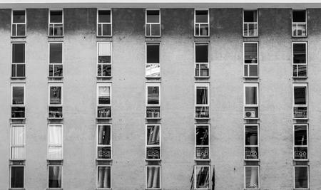 Genoa windows building Standard-Bild