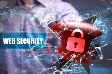 Business, Technology, Internet and network security. Web security
