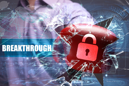 Business, Technology, Internet and network security. Breakthrough Stock Photo