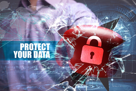 Business, Technology, Internet and network security. Protect your data