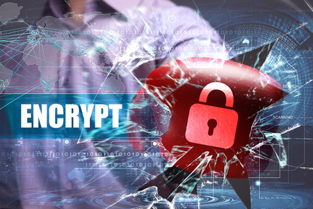 encrypt: Business, Technology, Internet and network security. encrypt