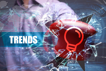 technology trends: Business, Technology, Internet and network security. trends Stock Photo