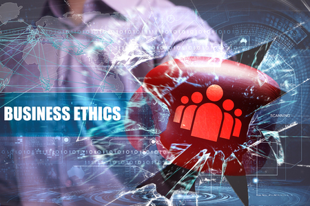 Business, Technology, Internet and network security. business ethics