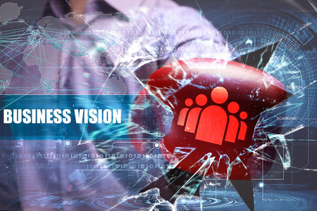 Business, Technology, Internet and network security. business vision