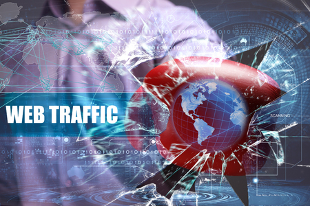 web traffic: Business, Technology, Internet and network security. web traffic Stock Photo