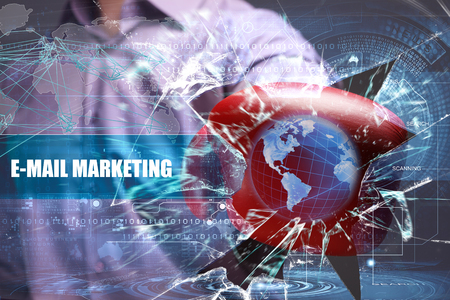 Business, Technology, Internet and marketing. E-mail marketing Stock Photo