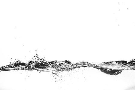 흰색 배경에 물의 밝아진. 워터 제트.