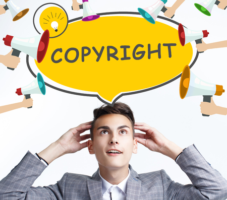 Business, technology, internet and networking concept. The young entrepreneur got the innovative idea: Copyright 版權商用圖片