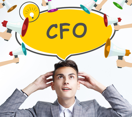 Business, technology, internet and networking concept. The young entrepreneur got the innovative idea: CFO