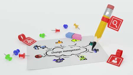 Internet, business, Technology and network concept. CHANGE MANAGEMENT, business concept. Stock fotó