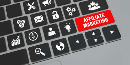 Internet, business, Technology and network concept. AFFILIATE MARKETING.