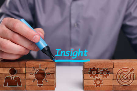 INSIGHT inscription, successful business concept. Business, Technology, Internet and network concept Stock Photo