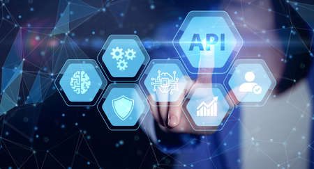 API - Application Programming Interface. Software development tool. Business, modern technology, internet and networking concept. Reklamní fotografie