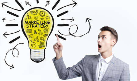 Business, Technology, Internet and network concept. Digital Marketing content planning advertising strategy concept. 版權商用圖片