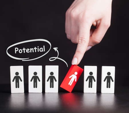 Coach motivate to personal development. Personal and career growth. Potential and motivation concepts.
