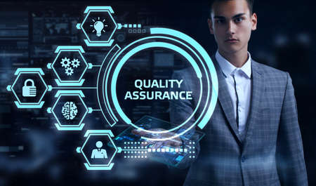 Business, Technology, Internet and network concept. Quality Assurance service guarantee standard. Stock Photo