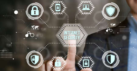 Internet, business, Technology and network concept. Cyber security data protection business technology privacy concept.