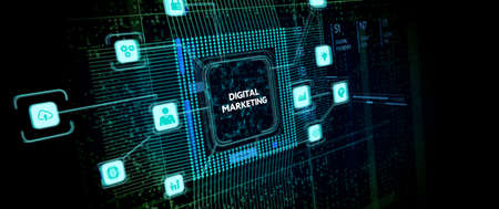 Business, Technology, Internet and network concept. Digital Marketing content planning advertising strategy concept. Фото со стока