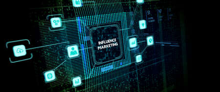 Influence marketing concept. Business, Technology, Internet and network concept. Фото со стока