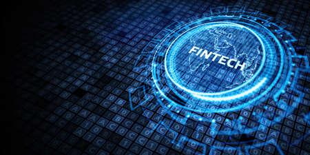 Fintech -financial technology concept.Business, Technology, Internet and network concept.