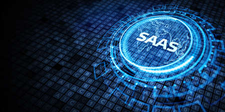 Software as a Service SaaS. Software concept. Business, modern technology, internet and networking concept.
