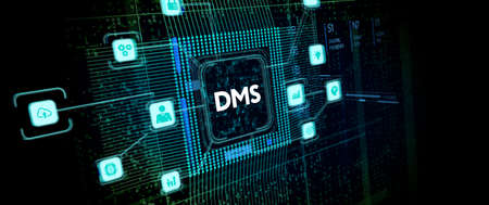 Document management DMS System Digital rights management. Business, Technology, Internet and network concept.