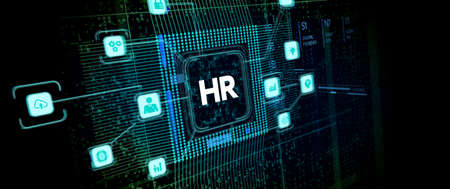 Business, Technology, Internet and network concept. Human Resources HR management recruitment employment headhunting concept.