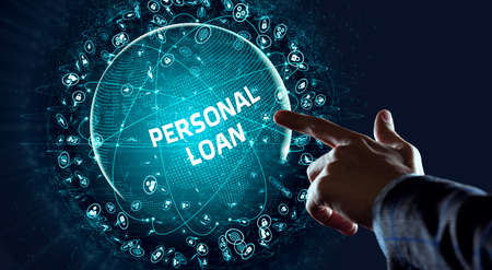 Business, Technology, Internet and network concept. Loan personal finance. Фото со стока