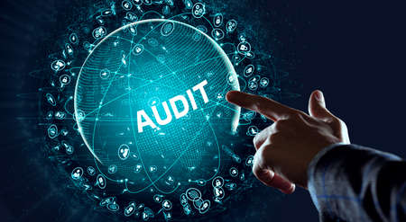 Business, Technology, Internet and network concept. Audit business and finance concept. Фото со стока