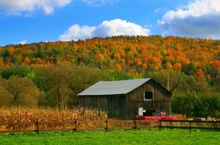Countryside With Falls Colors photo