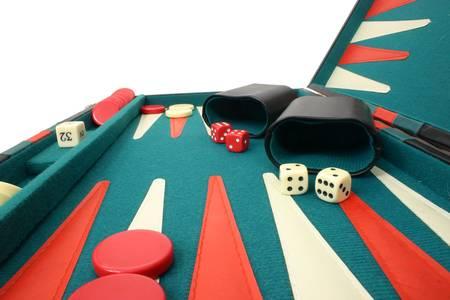Backgammon Over White