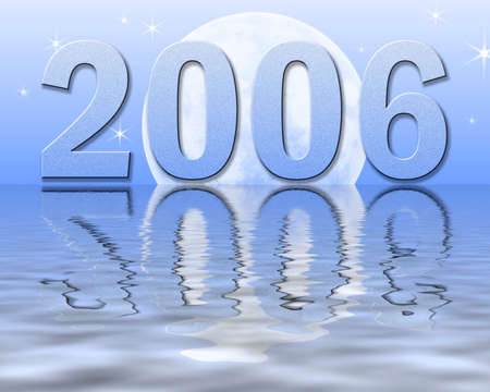 contentment: New Year Reflections Stock Photo