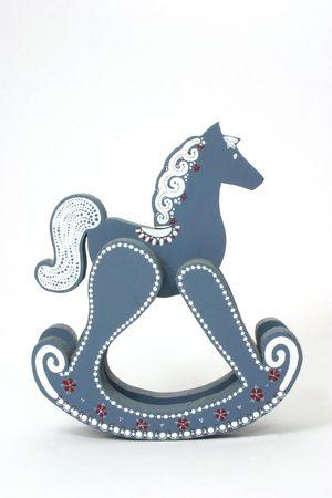 Rocking Horse Over White
