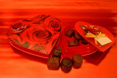 Valentine Chocolates (can personalize top of box) Stock Photo - 302890