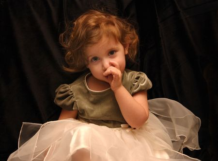 Princess Sucks Her Thumb Фото со стока