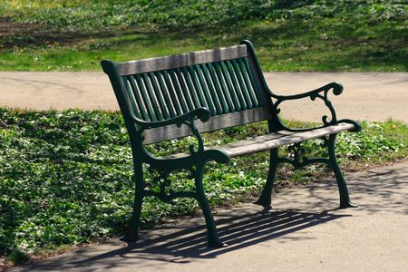 Lonely bench in a parkLonely Bench