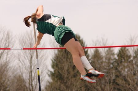 Girl Pole Vaults Stock fotó - 391470