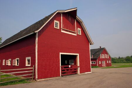 acres: Old red barn and out building on a very old farm