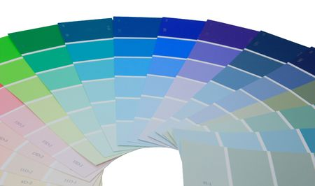 Colorful paint samples over white Stok Fotoğraf