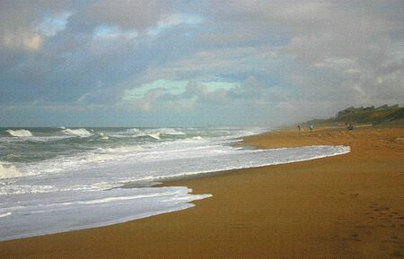 Picture of a beach turned to a painting