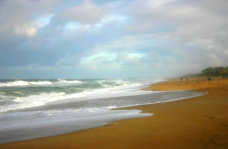 Picture of a beach turned to a painting with a dreamy touch Фото со стока