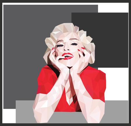 celebrities: Vector - blonde celebrity vector illustration Illustration