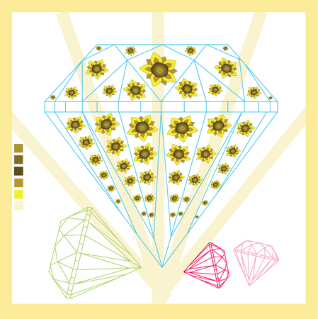 dimond: Vector - Thai Diamond background icon great for any use.